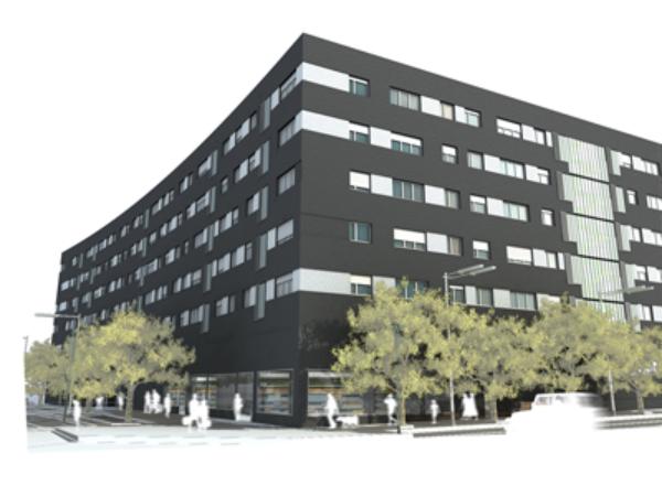 Vista exterior del edificio Manzana 17