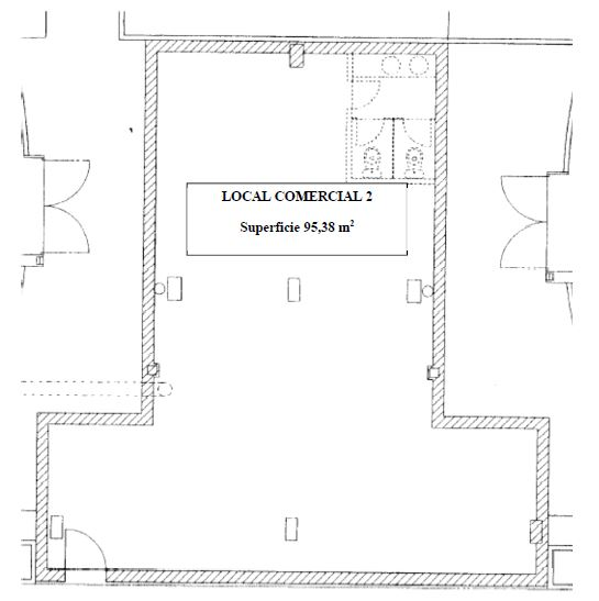 Plano de la parcela 20 del local comercial 2